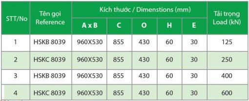 Kich Thuoc Song Chan Rac Khung