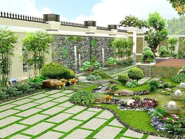 Lựa chọn phương án thoát nước tối ưu cho sân vườn